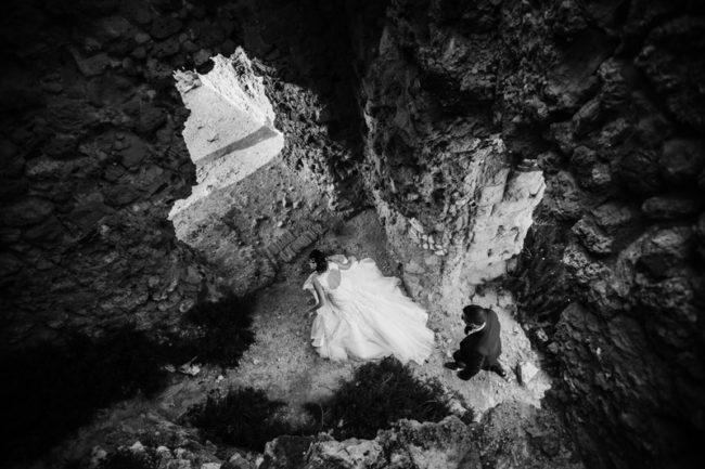 matrimonio Briatico Torre Santa Irene Rocchetta bianco e nero
