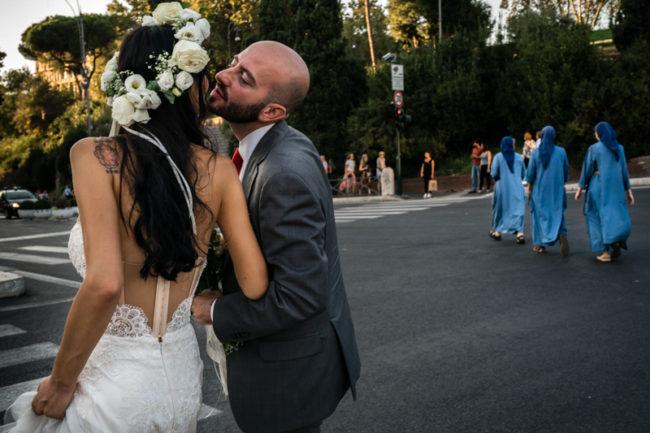 Matrimonio Roma suore street Colosseo