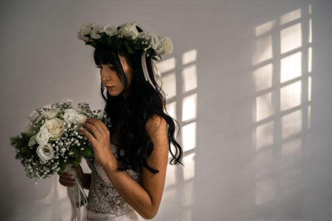 Matrimonio Roma ritratto sposa